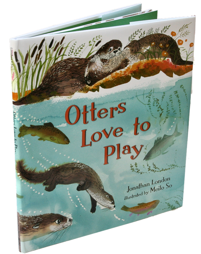 books white- otters love to play